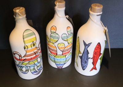 Olio EVO Muraglia bottiglie decoro